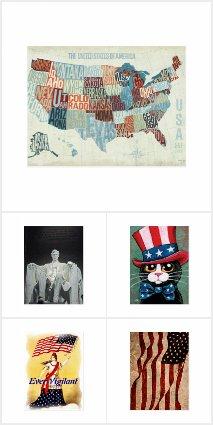 Patriotic Art Postcards