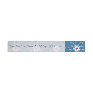 Patriotic Atom Wrap Around Address Label