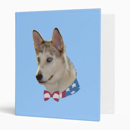 Patriotic Ausky Dog Binders