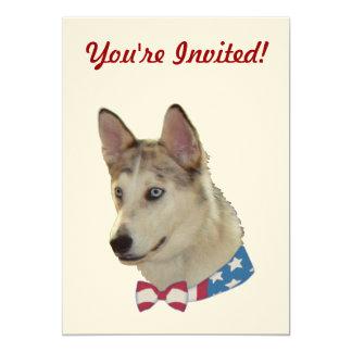 Patriotic Ausky Dog Card