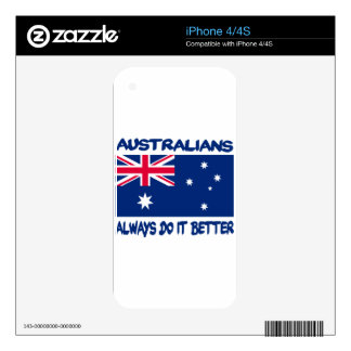 Patriotic Australian designs iPhone 4 Decal