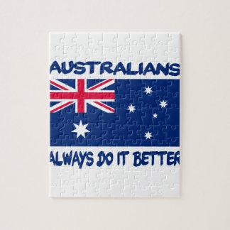 Patriotic Australian designs Jigsaw Puzzle