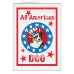Patriotic Australian Shepherd Card