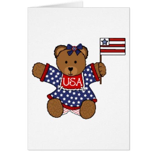 Patriotic Baby Bear Card
