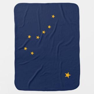 Patriotic baby blanket with Flag of Alaska