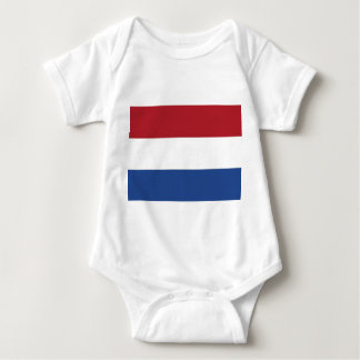 Patriotic baby bodysuit with flag Netherlands