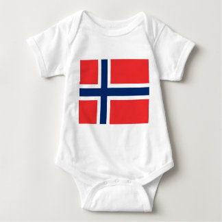 Patriotic baby bodysuit with flag Norway