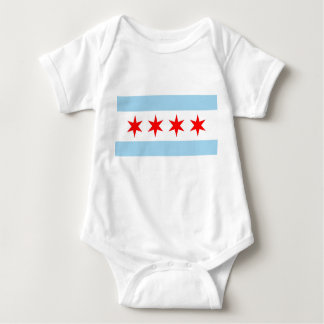 Patriotic baby bodysuit with flag of Chicago, USA