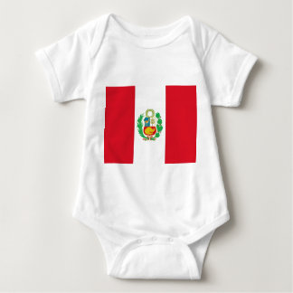 Patriotic baby bodysuit with flag Peru