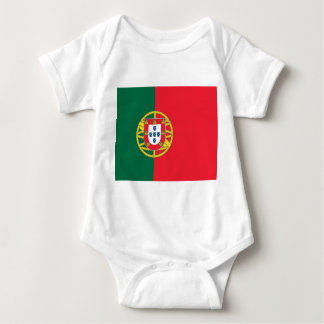 Patriotic baby bodysuit with flag Portugal