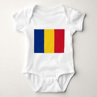 Patriotic baby bodysuit with flag Romania