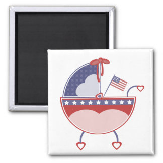 Patriotic Baby Carriage Magnet
