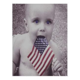Patriotic Baby Postcard