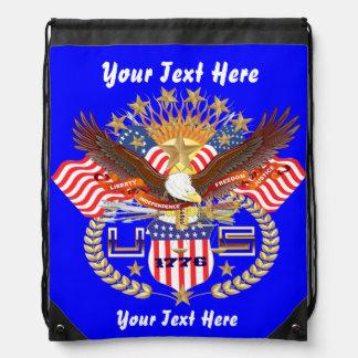 Patriotic Backpack Beach Bag Runner Drawstring Bags