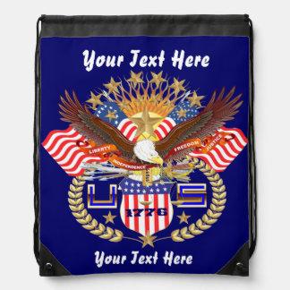 Patriotic Backpack Beach Bag Runner Backpack