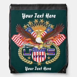 Patriotic Backpack Beach Bag Runner Backpacks