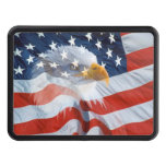 Patriotic Bald Eagle American Flag Hitch Cover