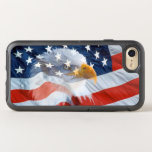 Patriotic Bald Eagle American Flag OtterBox Symmetry iPhone 8/7 Case
