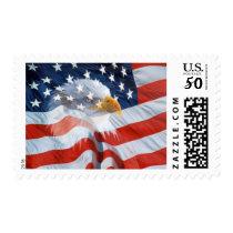 Patriotic Bald Eagle American Flag Postage