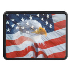 Patriotic Bald Eagle American Flag Trailer Hitch Covers