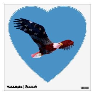 Patriotic Bald Eagle American Flag Wall Decal