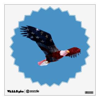 Patriotic Bald Eagle American Flag Wall Sticker