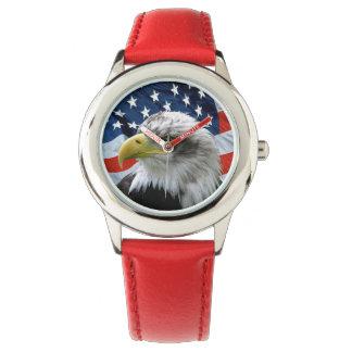 Patriotic Bald Eagle American Flag Watch