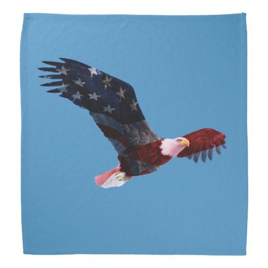 Patriotic Bald Eagle Bandana