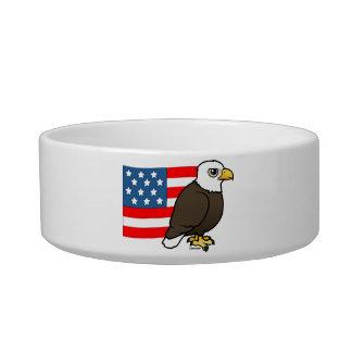 Patriotic Bald Eagle Bowl