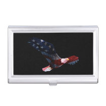 Patriotic Bald Eagle Business Card Holder