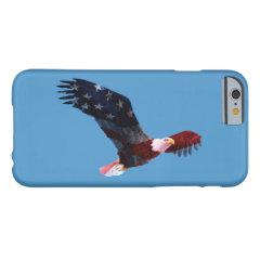 Patriotic Bald Eagle Flag iPhone 6 Case