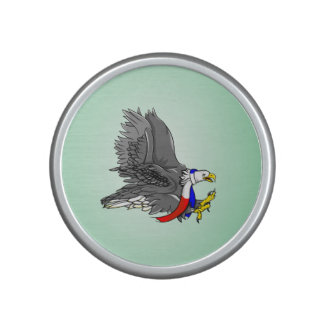 Patriotic Bald Eagle Illustration Bluetooth Speaker