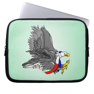 Patriotic Bald Eagle Illustration Laptop Sleeve