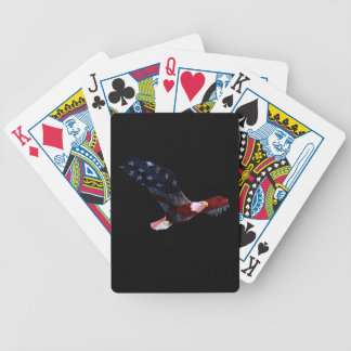 Patriotic Bald Eagle in flight Bicycle Playing Cards