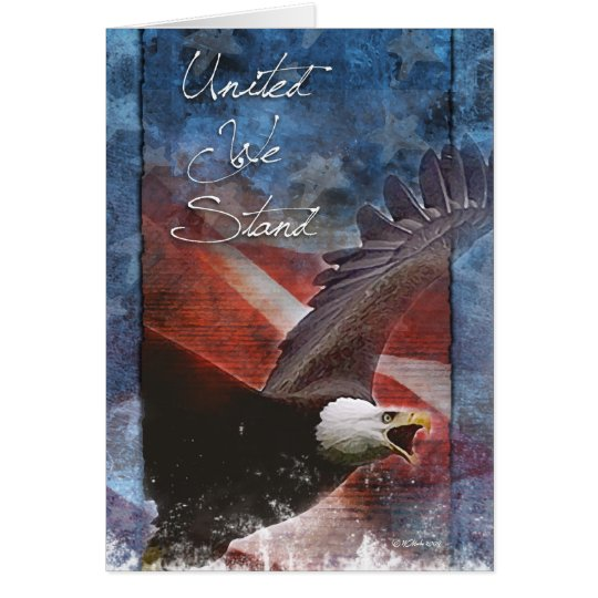 Patriotic Bald Eagle in Flight Greeting Card