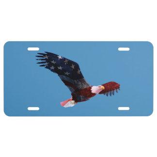 Patriotic Bald Eagle License Plate
