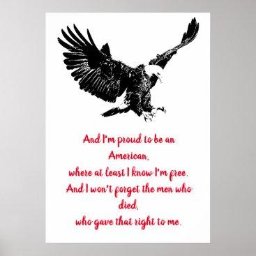 Patriotic Bald Eagle Motivational USA Proud Poster