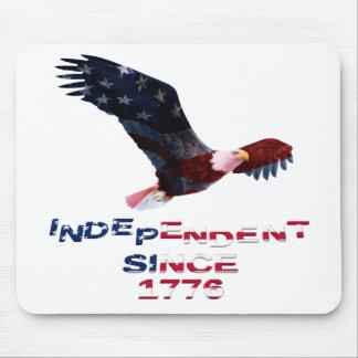 Patriotic Bald Eagle Mouse Pad