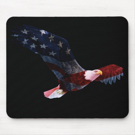 Patriotic Bald Eagle Mousepad