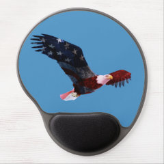 Patriotic Bald Eagle Mousepad Gel Mouse Pad