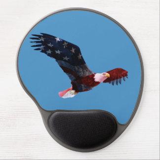 Patriotic Bald Eagle Mousepad Gel Mouse Mats