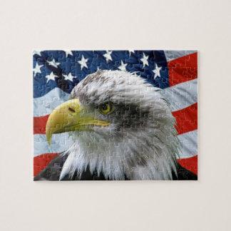 Patriotic Bald Eagle Puzzle
