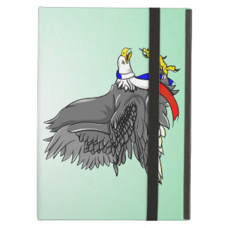 Patriotic Bald Eagle Red White and Blue Scarf Case For iPad Air