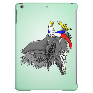 Patriotic Bald Eagle Red White and Blue Scarf iPad Air Case