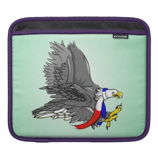 Patriotic Bald Eagle Red White and Blue Scarf iPad Sleeve