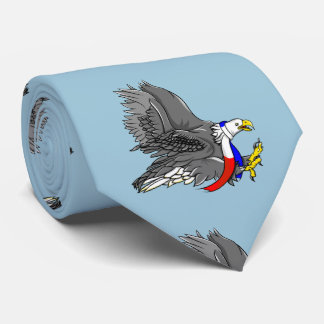 Patriotic Bald Eagle Red White and Blue Scarf Tie