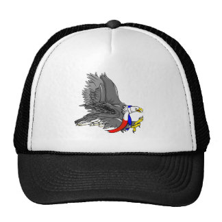 Patriotic Bald Eagle Red White and Blue Scarf Trucker Hat