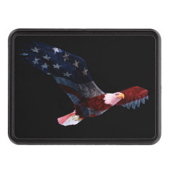Patriotic Bald Eagle Trailer Hitch Cover