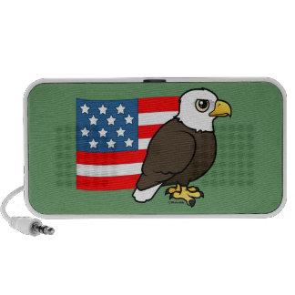Patriotic Bald Eagle Travelling Speaker
