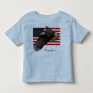 PATRIOTIC BALD EAGLE & US FLAG Kids Shirt